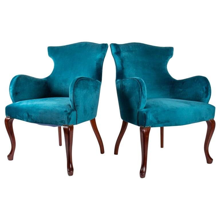 Pair of English Armchairs from the Beginning of the 20th Century For Sale