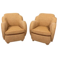 Pair of English Art Deco Armchairs