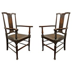 Pair of English Arts & Crafts Armchairs