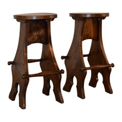 Pair of English Barstools, circa 1950s