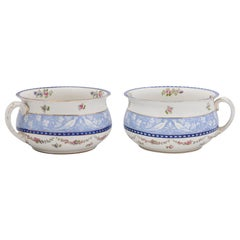 Pair of English Booths Blue and White China Bowls Produced for Harrods in London