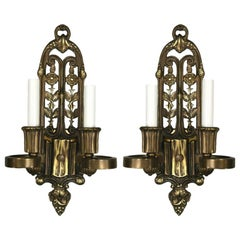 English  Bronze Sconces, circa 1920s