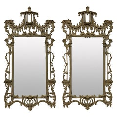 Pair of English Chippendale Revival Mirrors