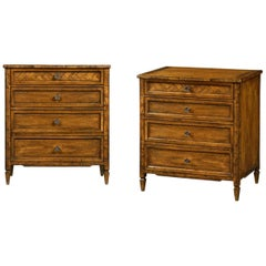 Pair of English Country Nightstands