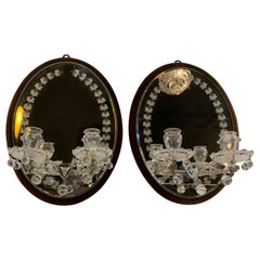 Pair of English Edwardian Mirrored Sconces