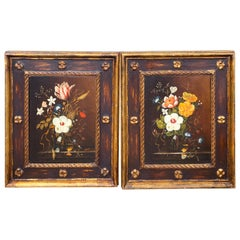 Pair of English Floral Still Life Paintings in the Style of Cecil Kennedy