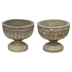 Pair of English Garden Stone Urns or Planters 'Individually Priced'