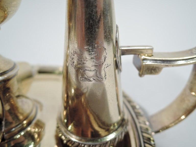 Pair of English Georgian Regency Silver Gilt Chambersticks For Sale 6