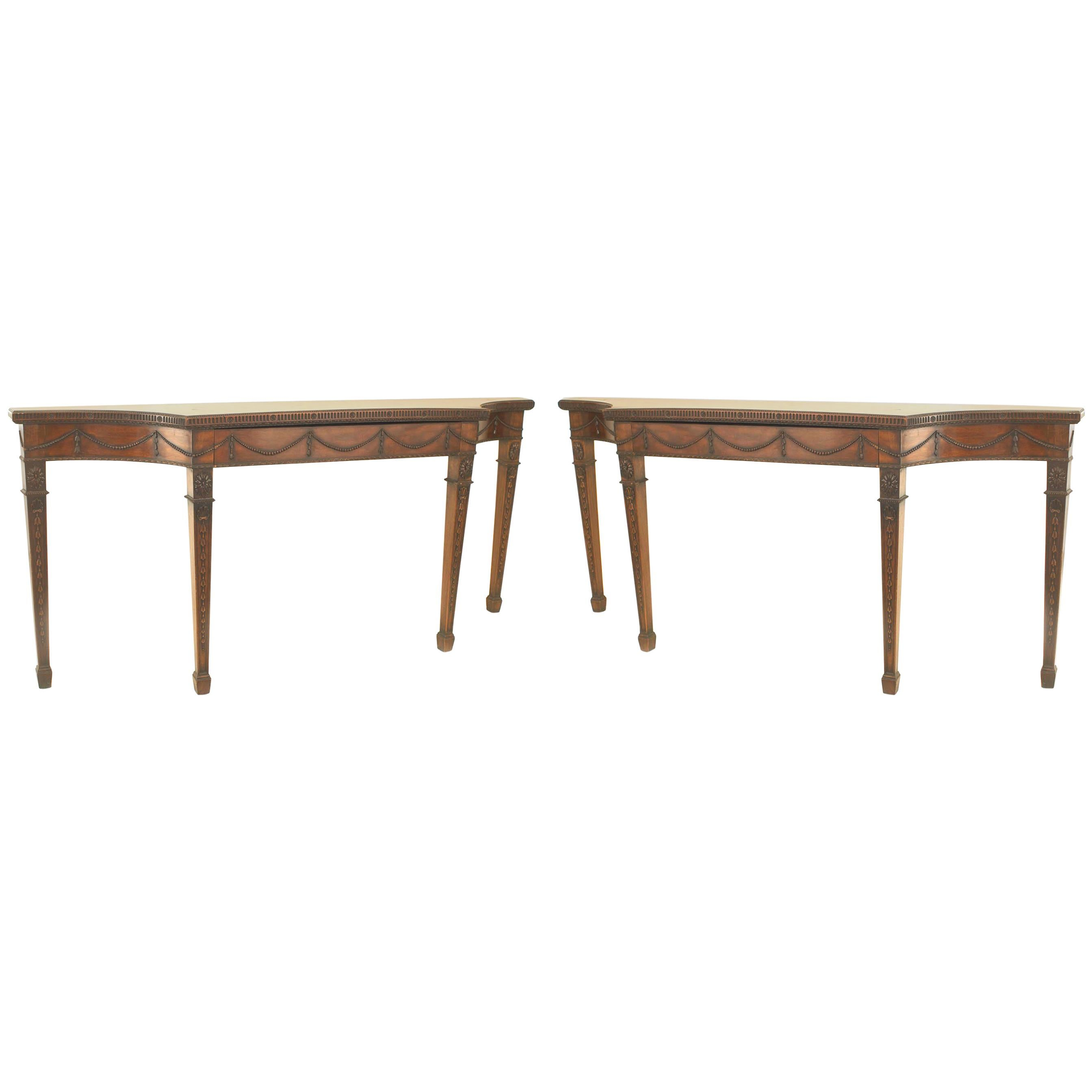 Pair of English Georgian Style Console Tables