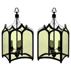 Pair of English Gothic Hanging Lanterns