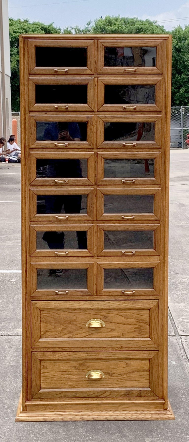 Pair of English Haberdashery Cabinets, 'Individually Priced' For Sale 4
