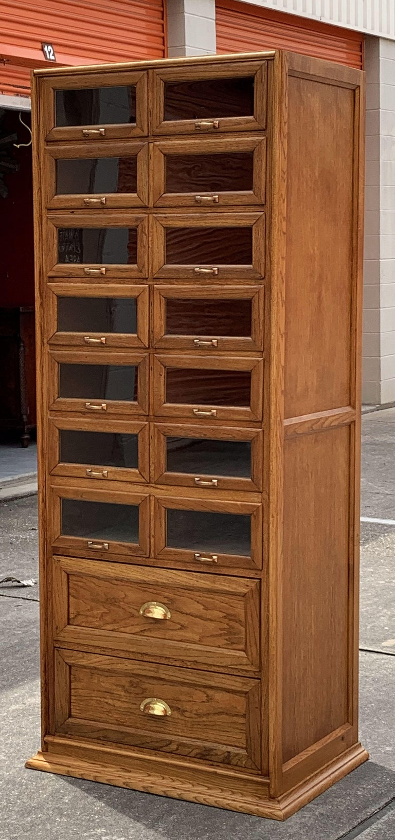 Pair of English Haberdashery Cabinets, 'Individually Priced' For Sale 5