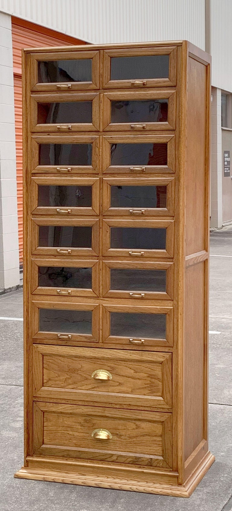 Pair of English Haberdashery Cabinets, 'Individually Priced' For Sale 6