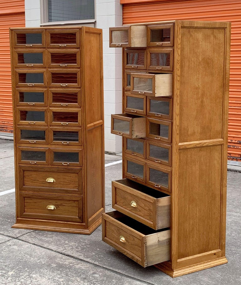Pair of English Haberdashery Cabinets, 'Individually Priced' For Sale 7