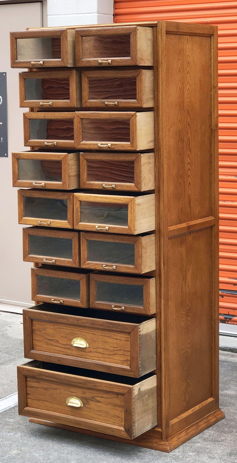 Pair of English Haberdashery Cabinets, 'Individually Priced' For Sale 8