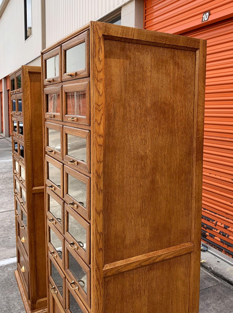 Pair of English Haberdashery Cabinets, 'Individually Priced' For Sale 9