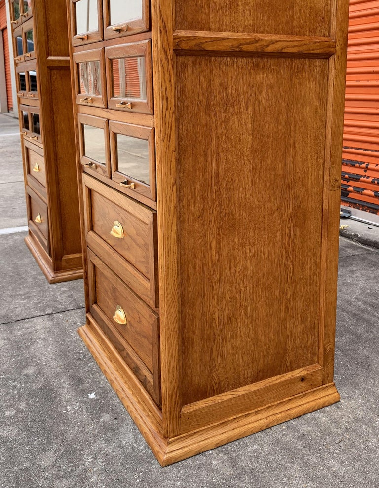 Pair of English Haberdashery Cabinets, 'Individually Priced' For Sale 10
