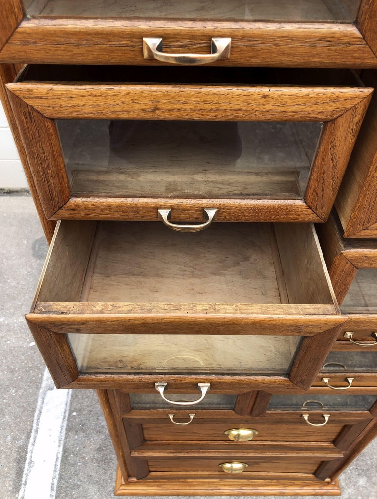 Pair of English Haberdashery Cabinets, 'Individually Priced' For Sale 11