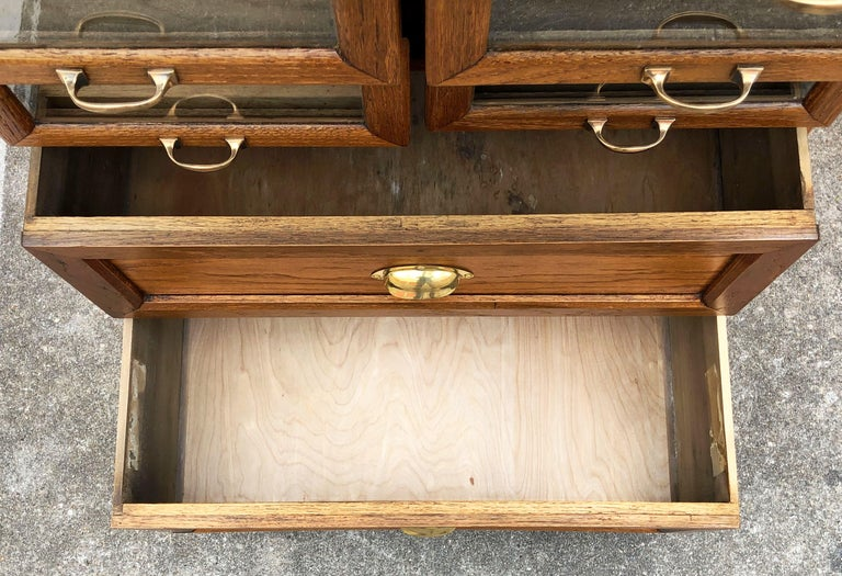 Pair of English Haberdashery Cabinets, 'Individually Priced' For Sale 12