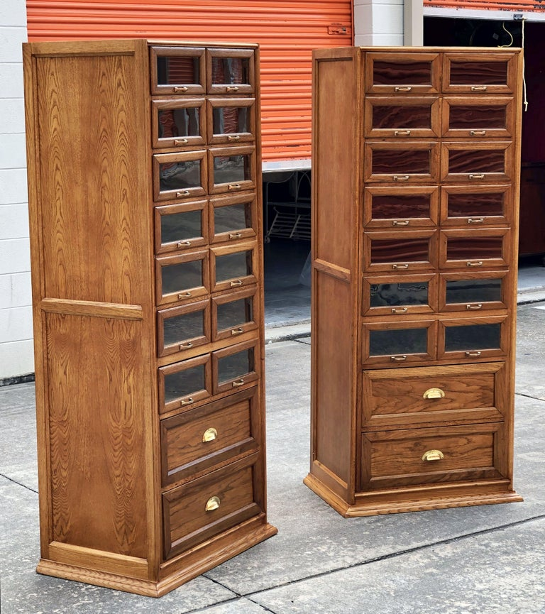 Pair of English Haberdashery Cabinets, 'Individually Priced' In Good Condition For Sale In Austin, TX