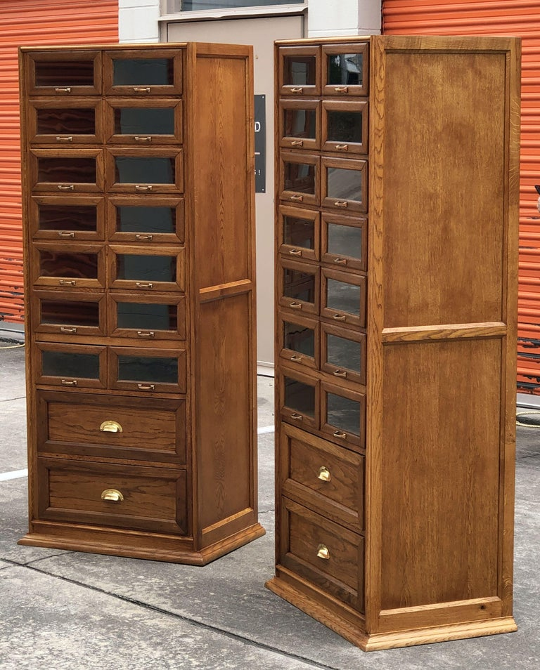 20th Century Pair of English Haberdashery Cabinets, 'Individually Priced' For Sale