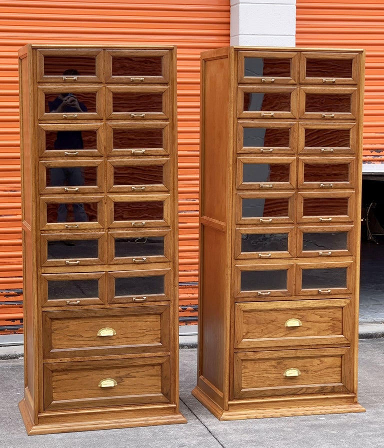 Pair of English Haberdashery Cabinets, 'Individually Priced' For Sale 1