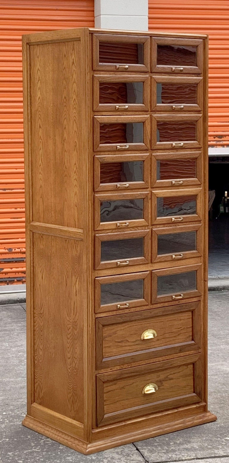 Pair of English Haberdashery Cabinets, 'Individually Priced' For Sale 2