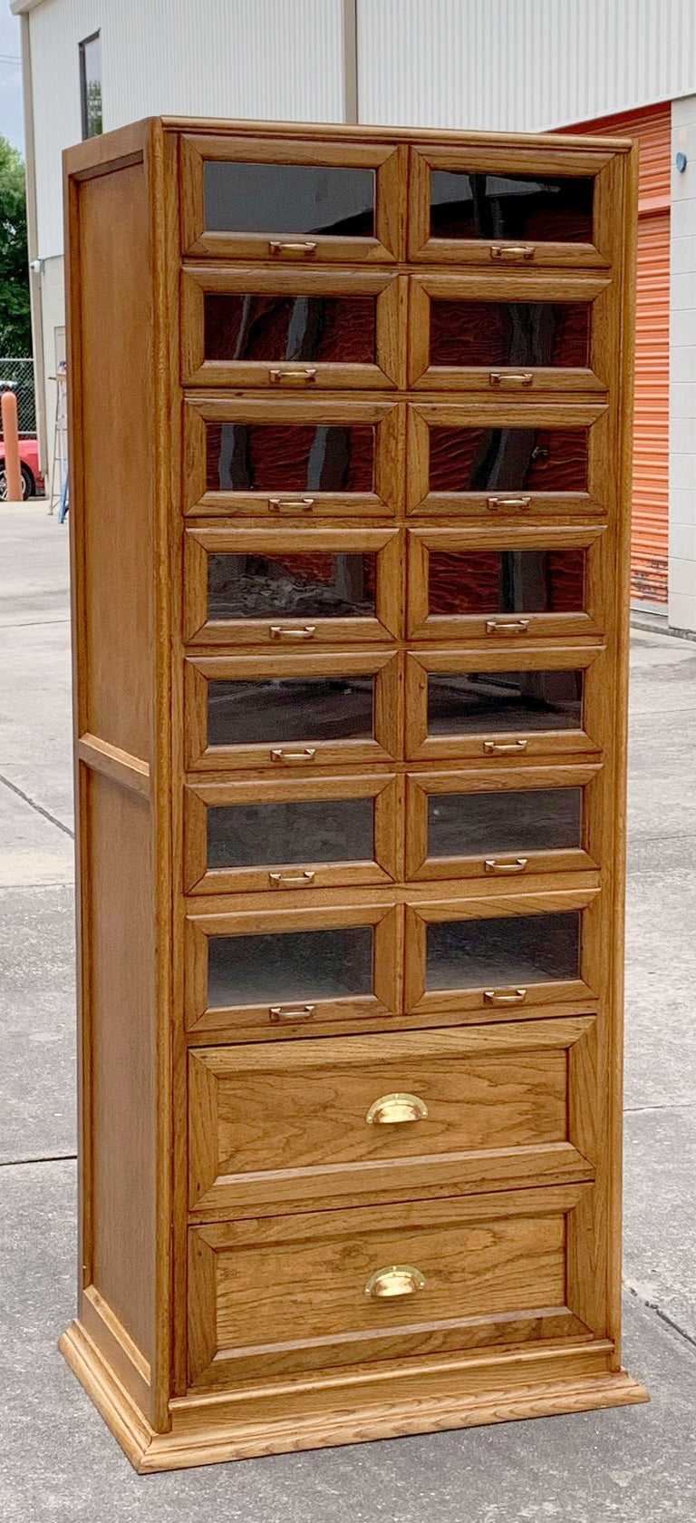 Pair of English Haberdashery Cabinets, 'Individually Priced' For Sale 3