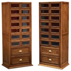 Pair of English Haberdashery Cabinets