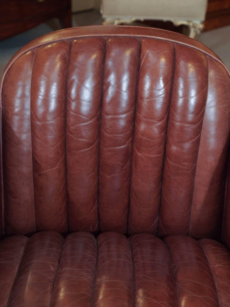 Art Deco Pair of English Leather