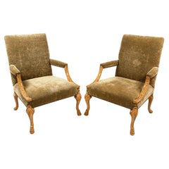 Pair of English Library Armchairs