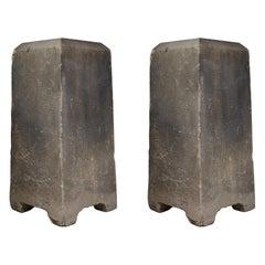 Pair of English Limestone Plinths