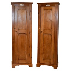 Pair of English Locker Cabinets