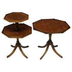 Pair of English Mahogany Octagonal Side Tables