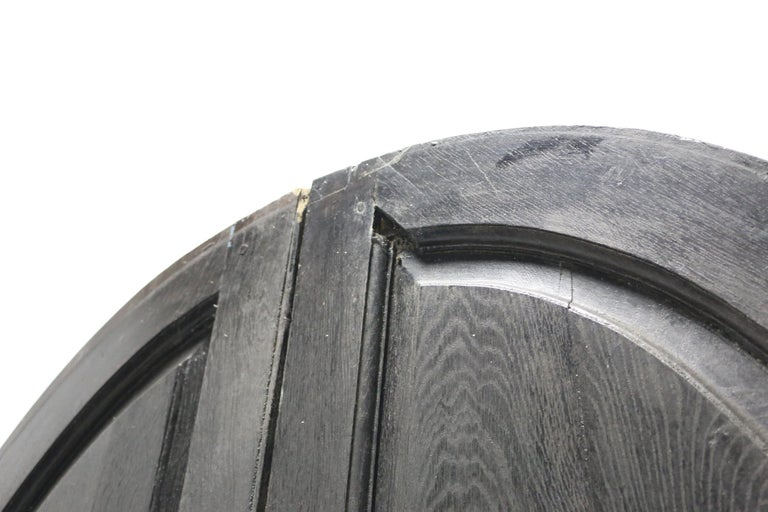 19th Century Pair of English Oak Arched Double Exterior Doors For Sale