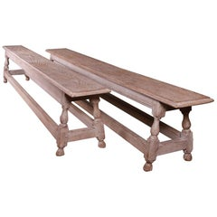 Pair of English Oak Benches