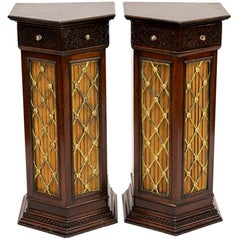 Pair of English Pedestal Cabinets