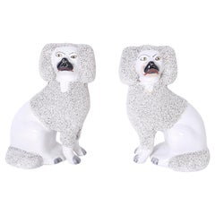 Pair of English Poodles or Dogs