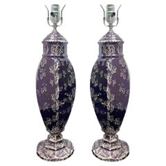 Pair of English Porcelain Table Lamps