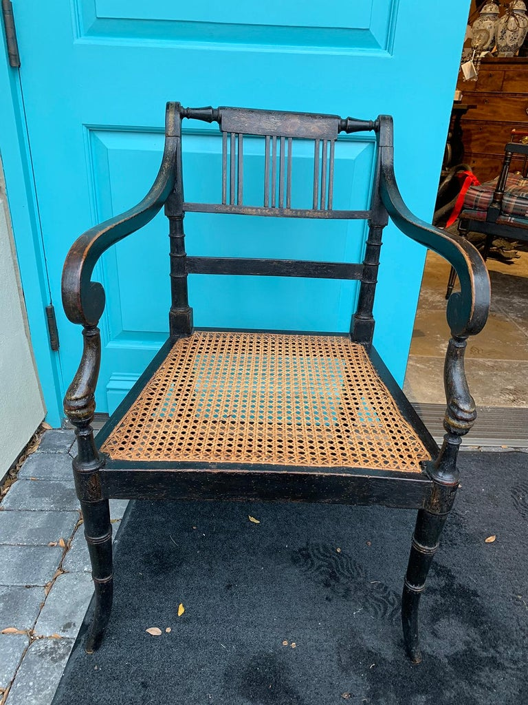 Pair of English Regency Armchairs, circa 1815-1830 For Sale 5