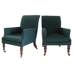 Pair of English Regency Bergères, Duke of Manchester, Kimbolton Castle