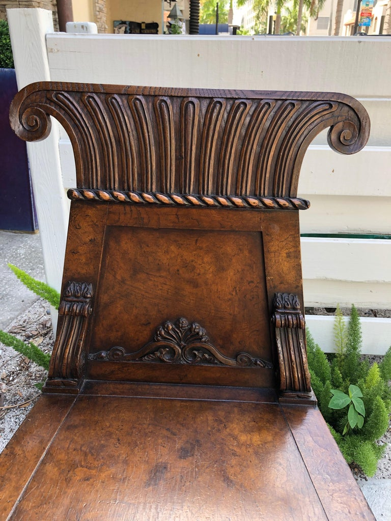 Pair of English Regency Burl Elmwood Hall Chairs/Side Chairs For Sale 1