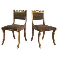 Pair of English Regency Side Chairs attributed to Morel & Hughes, circa 1815