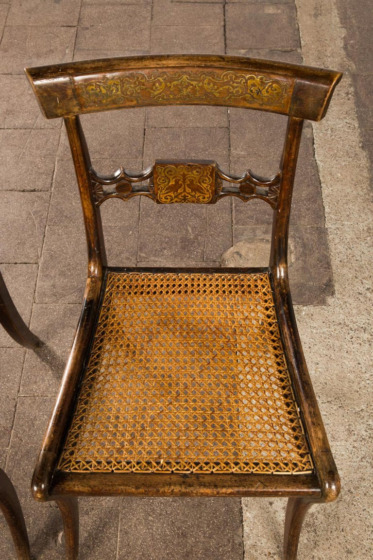 Pair of English Regency Side Chairs For Sale 4