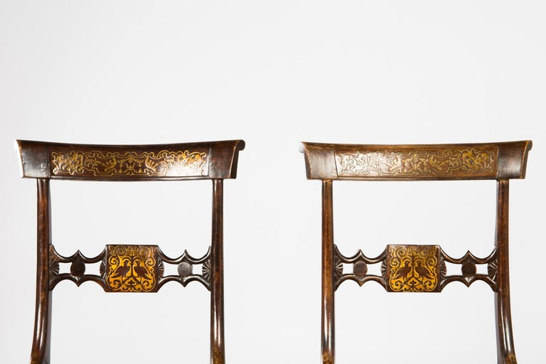 Pair of English Regency Side Chairs In Good Condition For Sale In Vienna, AT