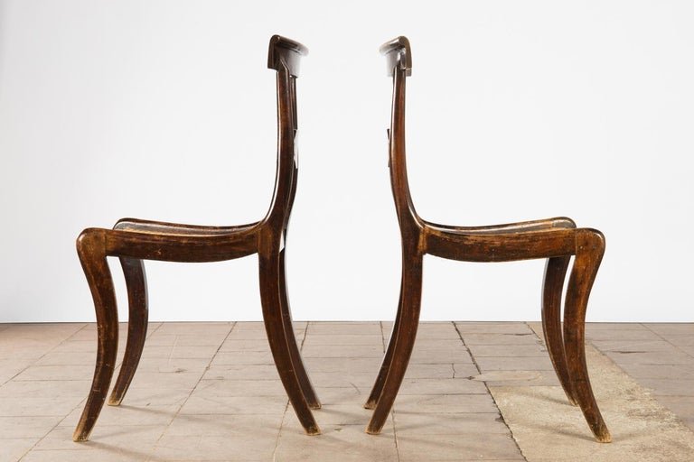 Pair of English Regency Side Chairs For Sale 2