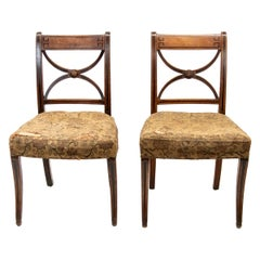 Pair of English Regency Side Chairs