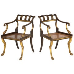Pair of English Regency Style Armchairs