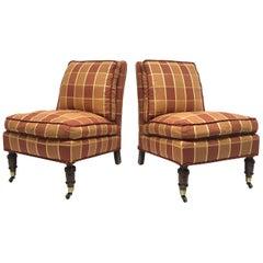 Pair of English Slipper Chairs