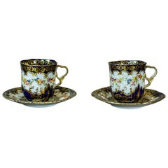 Pair of English Staffordshire Cups from the 19th Century